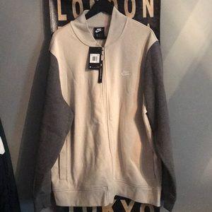 NWT Nike bomber fleece jacket